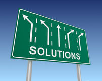 Solutions road sign Royalty Free Stock Photos