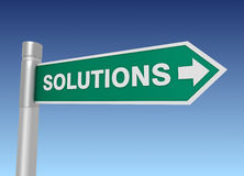 Solutions road sign Royalty Free Stock Photo