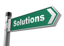Solutions road sign Stock Photos
