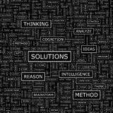 SOLUTIONS. Seamless pattern. Word cloud illustration Royalty Free Stock Photography