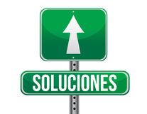 Solutions Spanish sign Stock Image