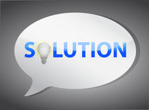 Solutions speech bubble Stock Photo