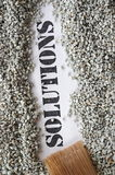 Solutions -- treasure word series. On white Royalty Free Stock Photo