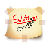 Solutions, Vector Royalty Free Stock Photos