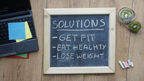 Solutions written Stock Images