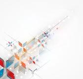 Soluzione astratta di affari di tecnologie informatiche della freccia immagini stock libere da diritti