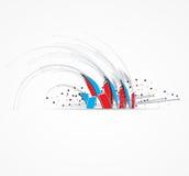 Soluzione astratta di affari di tecnologie informatiche della freccia illustrazione di stock