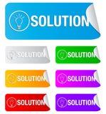 Soluzione, autoadesivi rettangolari Immagini Stock Libere da Diritti