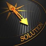 Soluzione. Cenni storici di affari. Immagini Stock Libere da Diritti