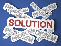 Soluzione. Concetto di affari. Fotografia Stock Libera da Diritti