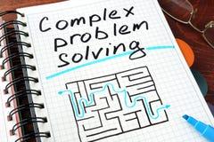 Soluzione dei problemi complessa Fotografia Stock
