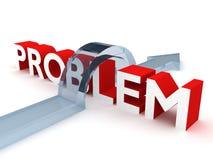 Soluzione del concetto di problema 3d Fotografia Stock