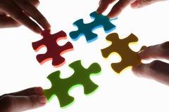 Soluzione del puzzle variopinto Immagine Stock Libera da Diritti