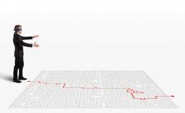 soluzione della rappresentazione 3D per il labirinto Immagini Stock