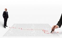 soluzione della rappresentazione 3D per il labirinto Immagine Stock Libera da Diritti