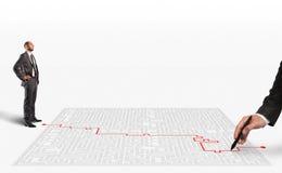 soluzione della rappresentazione 3D per il labirinto Fotografia Stock Libera da Diritti