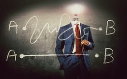 A - soluzione di B migliore - concetto con l'uomo d'affari fotografie stock