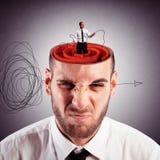 Soluzione di labirinto di mente Fotografia Stock