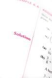 Soluzione di per la matematica Immagini Stock Libere da Diritti
