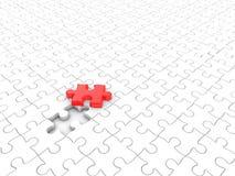 Soluzione - parte di puzzle Immagini Stock