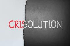 Soluzione per la crisi illustrazione di stock