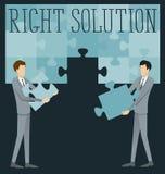 Soluzione piana di destra di concetto di affari di vettore Immagini Stock Libere da Diritti