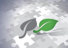 Soluzione sostenibile verde Immagini Stock Libere da Diritti