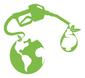 Soluzione verde del gas Fotografia Stock Libera da Diritti