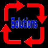 Soluzioni e frecce Immagine Stock