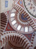 Soluzioni geometriche nella moschea di Costantinopoli Fotografia Stock Libera da Diritti