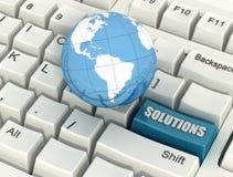 Soluzioni globali concettuali Immagini Stock