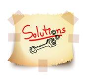 Soluzioni, vettore Fotografie Stock Libere da Diritti
