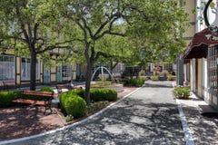 SOLVANG,圣巴巴拉县/CALIFORNIA 8月9日:庭院 库存图片