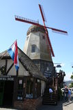 Solvang Architecture. Of a Dutch windmill in California Royalty Free Stock Photo