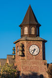 Solvang, USA - February 13, 2016: Clock tower architecture in dutch village in California in Santa Barbara County Stock Photography