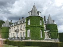 Solvay castle in La Hulpe, Belgium. Royalty Free Stock Photo