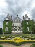 Solvay castle in La Hulpe, Belgium. Royalty Free Stock Images