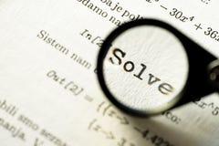 Solve Stock Photo