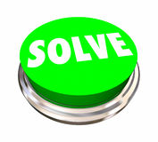Solve Button Fix Problem Solution Word Royalty Free Stock Images