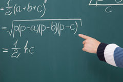 Solve math problems Stock Images