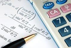 Solve a mathematics question Royalty Free Stock Photos