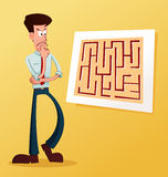 Solve the maze Royalty Free Stock Image