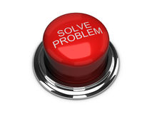 Solve the problem button. Isolated on the white Stock Photos