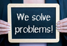 We solve problems business concept Royalty Free Stock Photos