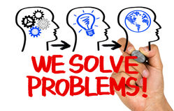 We solve problems Stock Photos
