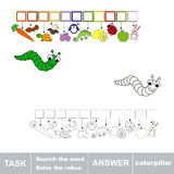 Solve the rebus. Find hidden word CATERPILLAR. Task and answer. Search the word Royalty Free Stock Photos