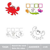 Solve the rebus. Find hidden word crab. Task and answer. Search the word Royalty Free Stock Photos