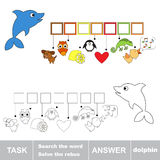 Solve the rebus. Find hidden word dolphin. Task and answer. Search the word Royalty Free Stock Photography