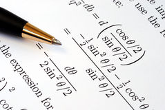 Solve some complicated mathematics questions. Try to solve some complicated mathematics questions stock images