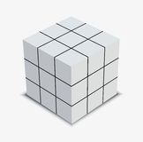 Solved Cube Puzzle Stock Images